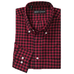 Kenneth Gordon - Button-Down Collar Check Sport Shirt