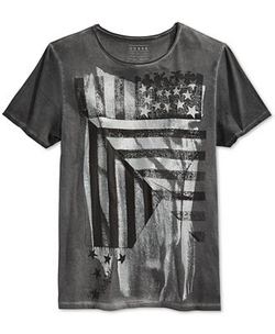 Guess - Abstract American Flag T-Shirt