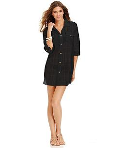 Dotti  - Button-Front Shirtdress Cover-Up