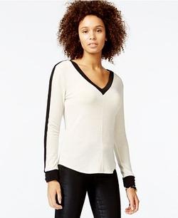 Rachel Roy - Long-Sleeve Colorblocked Sweater