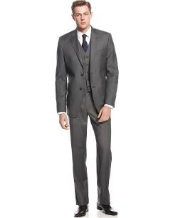 Ralph Lauren  - Charcoal Vested Slim-Fit Suit