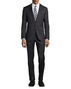 Hugo Boss  - Genius Tic-Weave Wool Suit