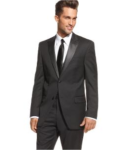 Alfani  - RED Tuxedo Jacket Black Slim Fit