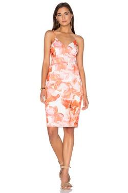 Lumier - Marble Floral Midi Dress