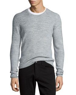 Vince - Thermal Long-Sleeve Crewneck T-Shirt