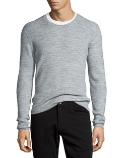 Vince - Thermal Long-Sleeve Crewneck T-Shirt