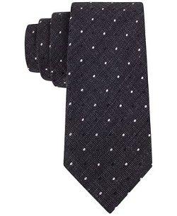 Calvin Klein  - Heather Plaid Dot Skinny Tie