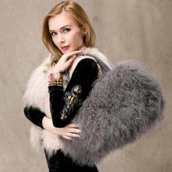 FAS - Lamb Fur/Mongolian Fur Handbag