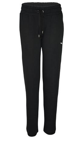 Puma  - Womens Sweat Jogging Bottom Pants Black