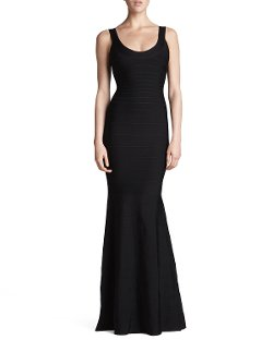 Herve Leger - Scoop-Neck Bandage Mermaid Gown