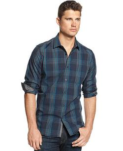 Alfani  - Big and Tall Long Sleeve Jasper Plaid