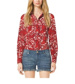 Michael Michael Kors   - Paisley Button Down Shirt