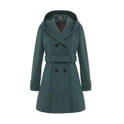 De La Creme  - Women`s Hooded Winter Belted Coat
