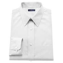 Croft & Barrow - Fitted Solid Point-Collar Dress Shirt