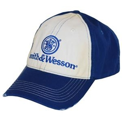 Smith & Wesson  - Two Tone Distressed Logo Cap