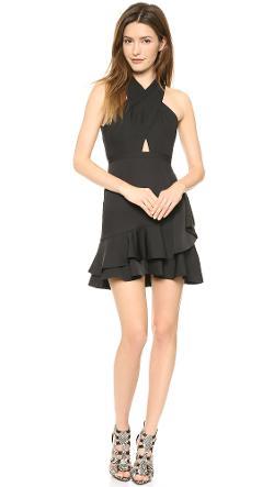 BCBGMAXAZRIA  - Cutout Halter Dress