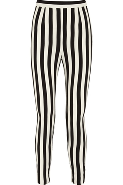 Dolce & Gabbana  - Striped Crepe Tapered Pants