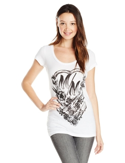 Metal Mulisha  - Waterheart Scoop Neck Graphic Tee