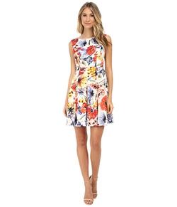 Donna Morgan - Sleeveless Floral Print Dress