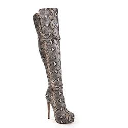 Onlymaker - Snake Print Zipper Boots