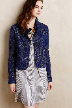 Anthropologie Knitted & Knotted - Nightshade Jacquard Jacket