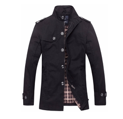 Wantdo - Cotton Button And Zip Jacket