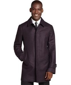 Canali  - Wool Three Quarter Overcoat