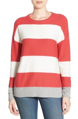 Caslon - Contrast Cuff Crewneck Sweater
