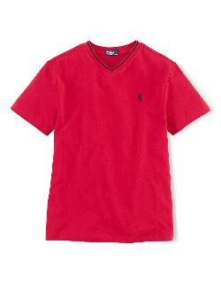 Ralph Lauren Childrenswear - Boys 8-20 Short-sleeved V-neck T-shirt