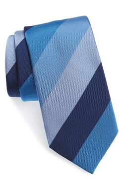 David Donahue  - Stripe Silk & Cotton Tie