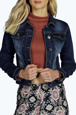Boohoo Blue - Sophia Slim Fit Denim Jacket