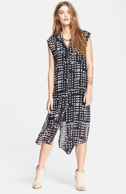 Free People  - Chiffon Maxi Shirtdress