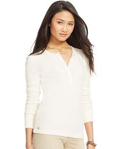 Lauren Jeans Co. - Waffle-Knit Henley Shirt