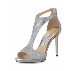 Jimmy Choo - Lana Glitter T-Strap Sandals