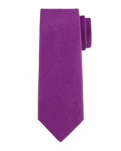 Charvet  - Solid Silk-Blend Tie