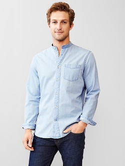 Gap - Chambray Banded Shirt