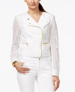 Michael Kors - Eyelet Moto Jacket