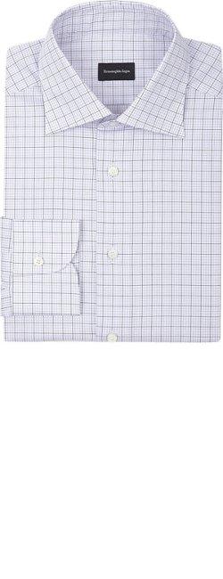 Ermenegildo Zegna - Graph Check-Pattern Dress Shirt