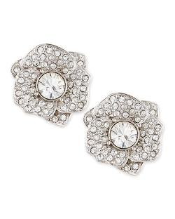 Kate Spade New York   - Rose Garden Pave Crystal Stud Earrings