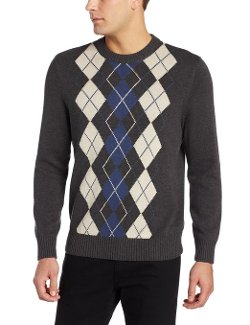 Dockers  - Cotton Multi Argyle Crew Neck Sweater