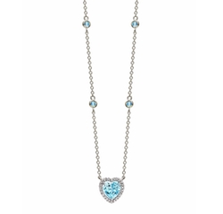 Kiki McDonough  - Grace Heart Pendant Necklace