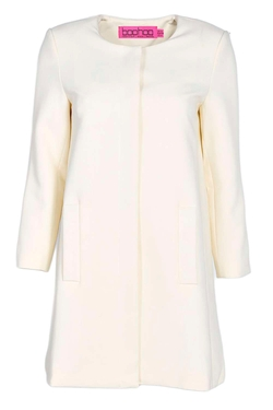 Boohoo - Olivia Collarless Button Duster Coat