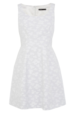Karen Millen - Cotton Jacquard Full Skirted Dress