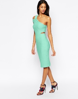 Asos - Asymmetric Cut Out Pencil Dress