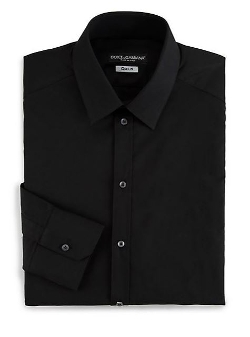 Dolce & Gabbana  - Regular-Fit Solid Dress Shirt