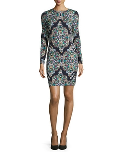 Nicole Miller Artelier - Crystal-Print Sheath Dress