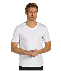 Vince  - Solid Jersey Short Sleeve V-Neck T-Shirt