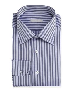 Stefano Ricci - Herringbone Stripe Dress Shirt
