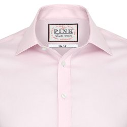 Thomas Pink - Davies Plain Slim Fit Button Cuff Shirt