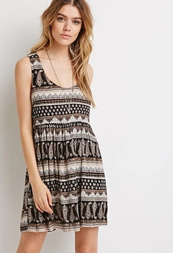 Forever 21 - Paisley Print Babydoll Dress